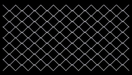 Metal mesh  Isolated render on a black background Stock Photo