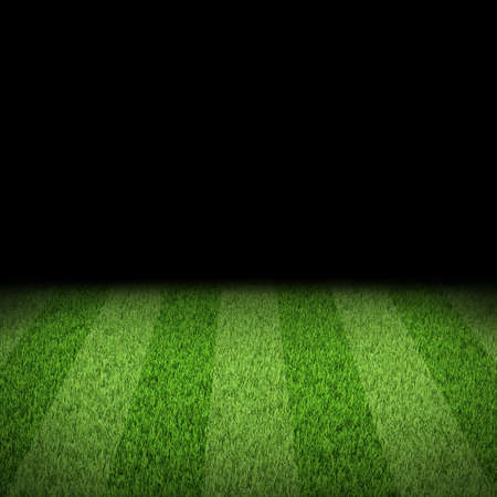 Night football arena  Striped field  Sports background Imagens