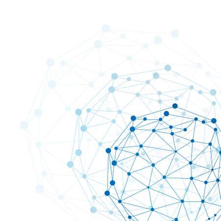 ワイヤー フレーム球ホワイト バック グラウンド ネットワーク概念 写真素材