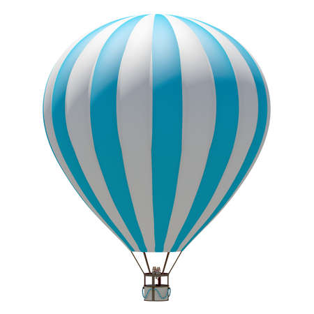 hot air: Hot air balloon  Isolated on the white background Stock Photo
