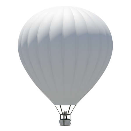 airship: Hot air balloon  Isolated on the white background Stock Photo