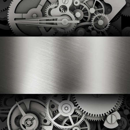 mechanical engineering: Gear in a metal frame  Template Web Site