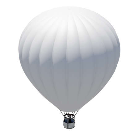 Hot air balloon  Isolated on the white background photo