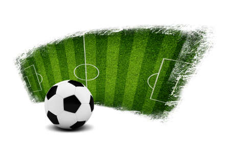 Soccer ball and painted field  Sports Concept photo