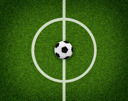 markup: Empty football field with markup  Top view  Sports Concept