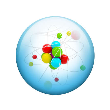 spherical: Abstract molecule  Spherical glossy button  Web element