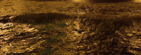 Night sea water close up  Top view photo
