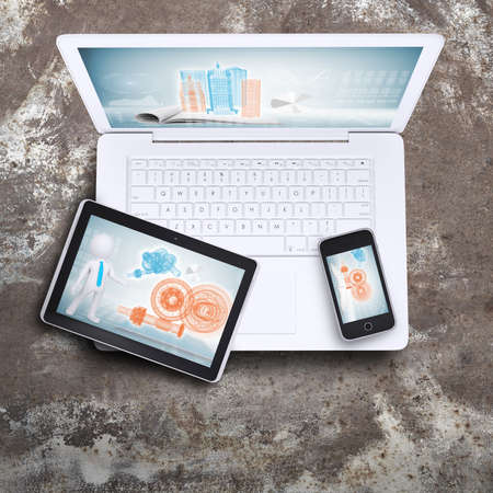 Laptop, tablet pc and smart phone photo
