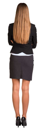 Businesswoman with crossed arms photo