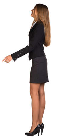 Businesswoman walks forward photo
