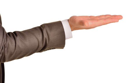 Open palm hand photo