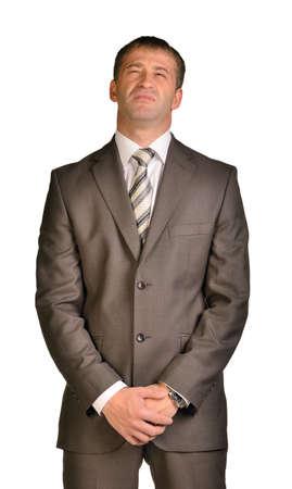 disdain: Hombre de negocios con desprecio en su cara