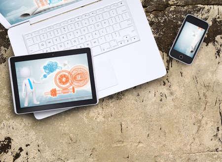 Laptop, Tablet-PC und Smartphone Standard-Bild - 30840039