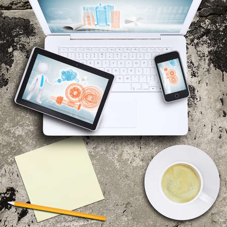 netbooks: Laptop, tablet pc and smart phone