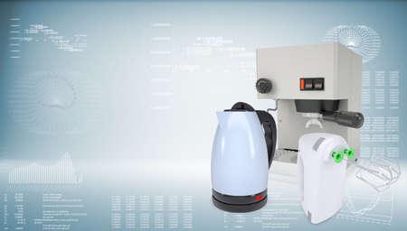 coffee blender: Coffee machine, kettle and blender