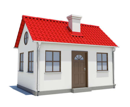 House with red roof photo