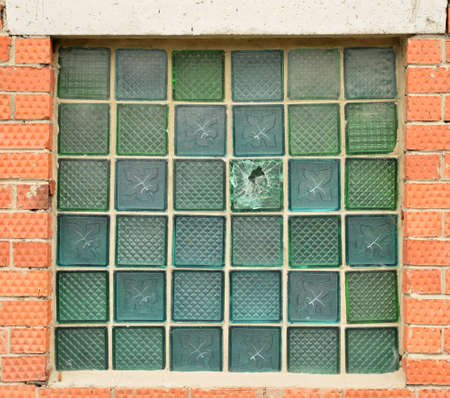 Window of glass bricks photo