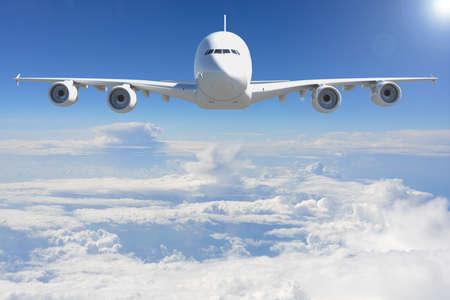 비행: Airplane in the sky