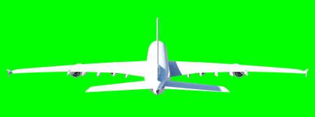 jetliner: White modern airplane Stock Photo