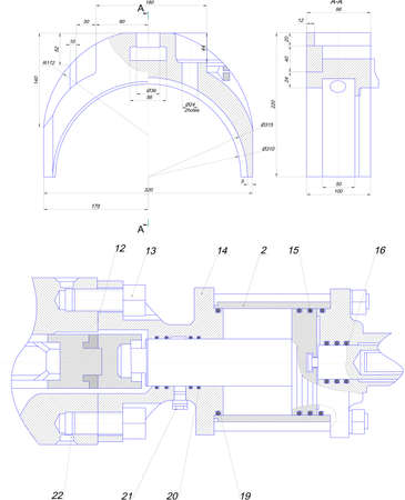 diameter: Ingegneria di disegno di attrezzature industriali