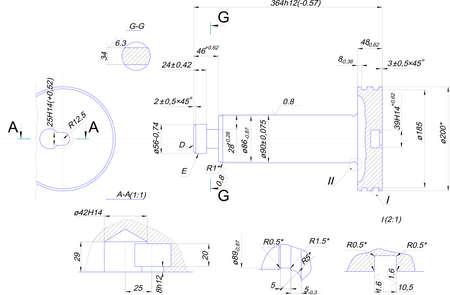 diameter: Disegno tecnico da tubetto in acciaio