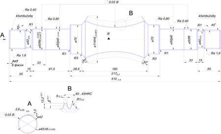 diameter: Ingegneria di disegno di albero in acciaio