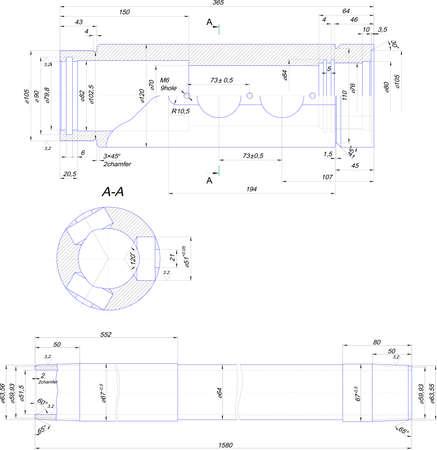diameter: Ingegneria di disegno da tubetto in acciaio