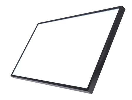 lsd: White blank screen monitor LSD. Isolated on white background