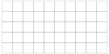 two dimensional shape: Visualization squares grid. Isolated on white background