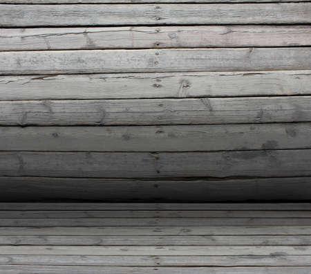 nailed: Convex texture nailed wooden railing. Gradient as backdrop