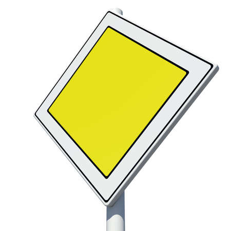 speedway: Square yellow road sign. Isolated on white background