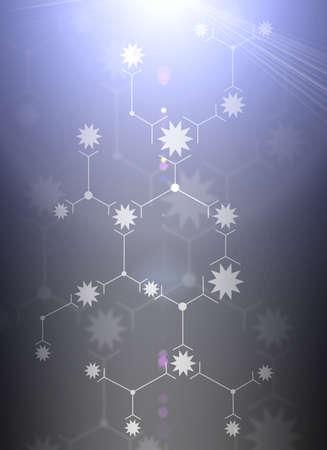 lineas blancas: Composici�n abstracta de l�neas blancas y las estrellas en el fondo de rayos de luz