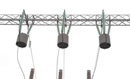 bobina: Aislamiento de la bobina el�ctrica y los cables. Aislado en el fondo blanco