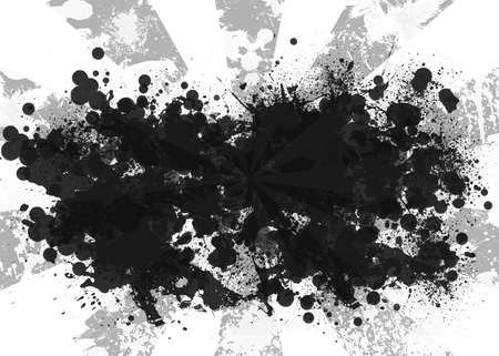 Abstract background is black blotches and gray stripes at center. Set your object in center