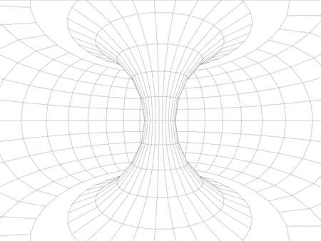innen: Wandinnen Torus. Vektor-Illustration, 3d render Illustration