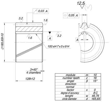 diameter: Schizzo ruota espanso con diametro del cerchio, schiusa, ranuncoli, linee curve, gradi angolari e numeri. Immagine vettoriale