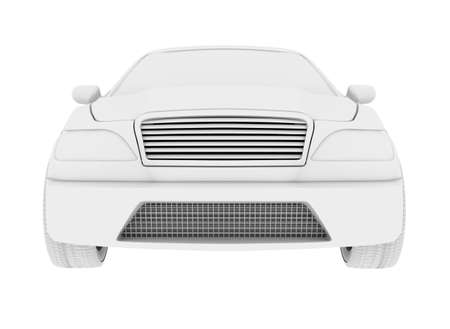 tailpipe: Car model on isolated white background, front view