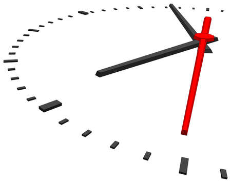 tack: Clock face without numbers on isolated white background. Vector illustration