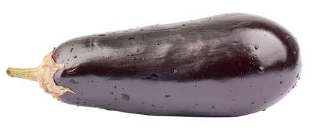 aubergine: Fresh violet aubergine on isolated white background