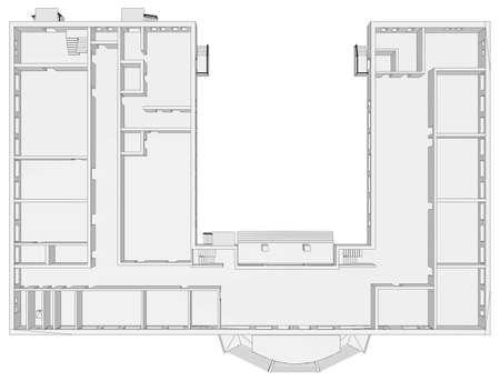 Building plan on isolated white background. Vector illustration