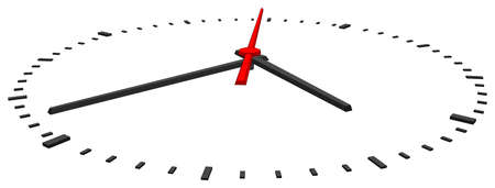 tack: Clock face without numbers on isolated white background. Vector illustration. Close-up view Illustration