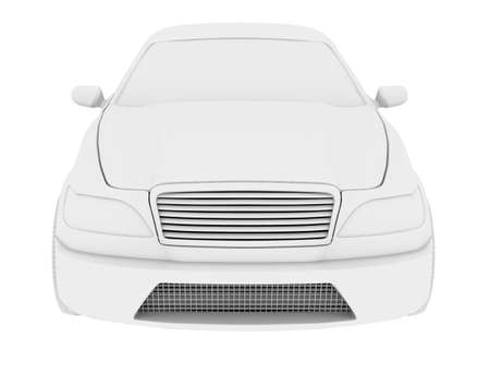 front view: Car model on isolated white background, front view