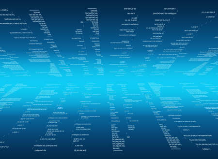 matrix: Abstract blue matrix background with figures and bright line