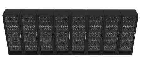 lockers: Set of metal lockers with handle on isolated white background, close up view