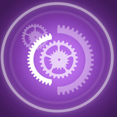 cog wheels: Cog wheels different sizes on purple background
