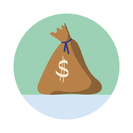 moneybag: Drawn moneybag on isolated white background. Vector illustration Illustration