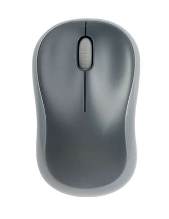Computer mouse on isolated white background, close up view