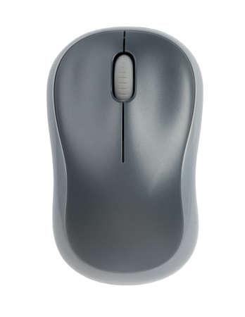 raton: Ratón del ordenador en el fondo blanco aislado, opinión del primer Foto de archivo