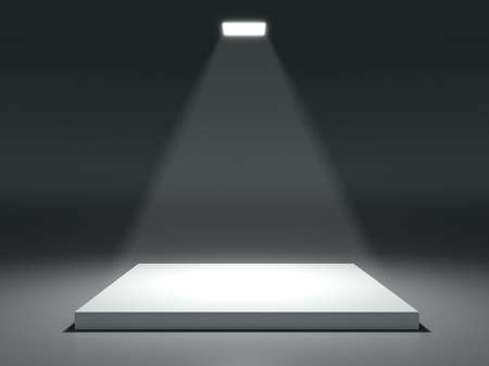 square shape: Square shape stage with soffits and light Stock Photo