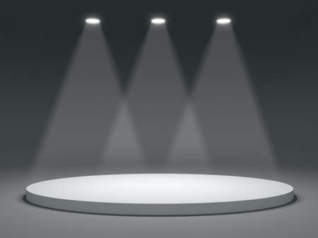 theatrical dance: Round shape stage with soffits and light